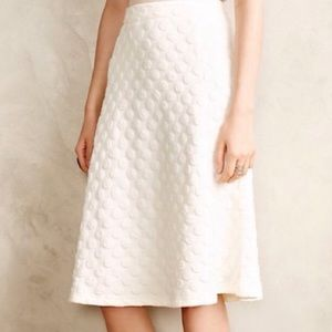 Anthro HD in Paris Dotted Jacquard Skirt
